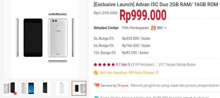 exclusive launch advan i5c terbaru