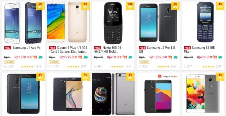 harga hp di emart by shopee