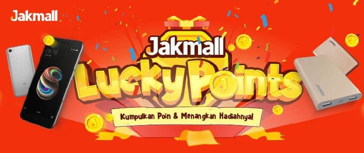 jakmall lucky points hadiah redmi note 5a
