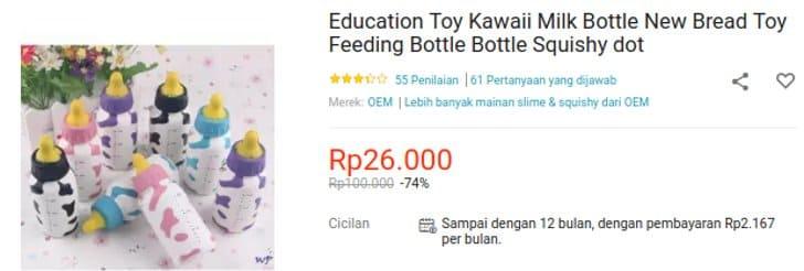 squishy edukasi botol susu dot
