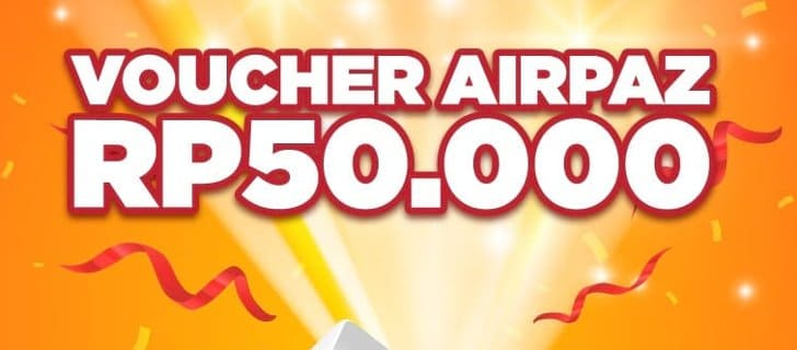 voucher airpaz 50 ribu gratis shopee daily prize