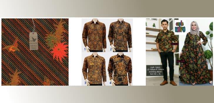 aneka pakaian batik sogan terlaris terbaru