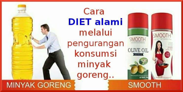 metode diet smooth semprot pengganti minyak goreng