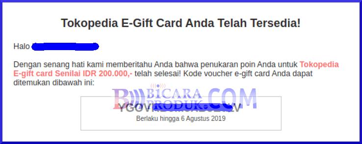 penukaran e gift card tokopedia survey yougov