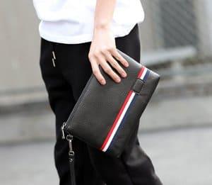 tas tangan pria bahan kulit