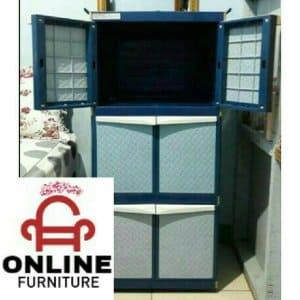 lemari plastik anti rayap 2 pintu