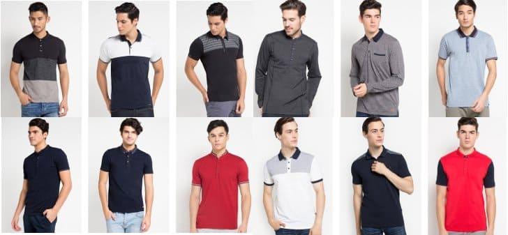 polo shirt cressida terbaru warna polos kombinasi