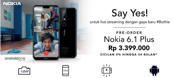 promo pre order nokia 6.1 plus toko online