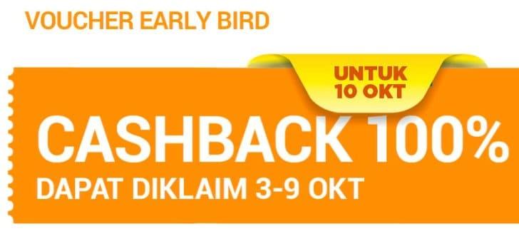 cashback early bird shopee 10 10