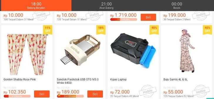 produk flash sale terbukti murah