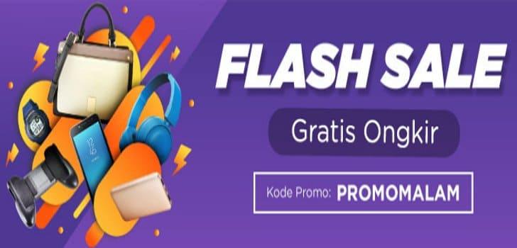 gratis ongkir flash sale tokopedia