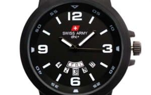 Jam pria murah Swiss Army 1128 Strap Kulit