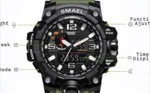 smael jam tangan tipe militer tahan guncangan