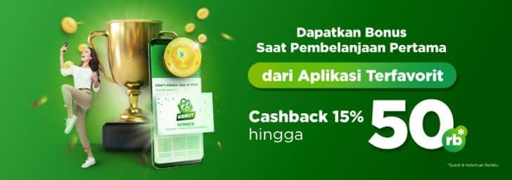 cashback tokopedia pengguna baru