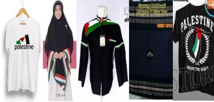 fashion palestina, baju koko, gamis, khimar, sarung, kaos, peci