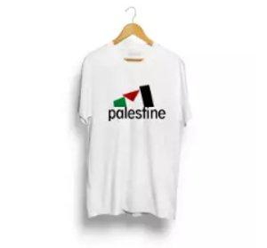 kaos palestina putih