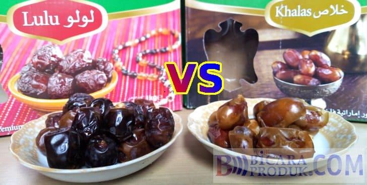 kurma lulu vs khalas merk date crown terbaik