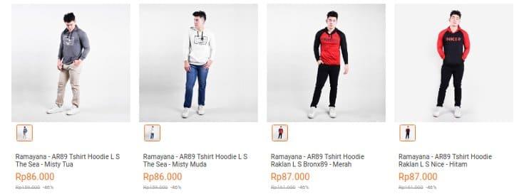 t-shirt hoodie ramayana 80 ribuan
