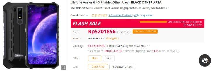 flash sale elefone gearbest harga termurah