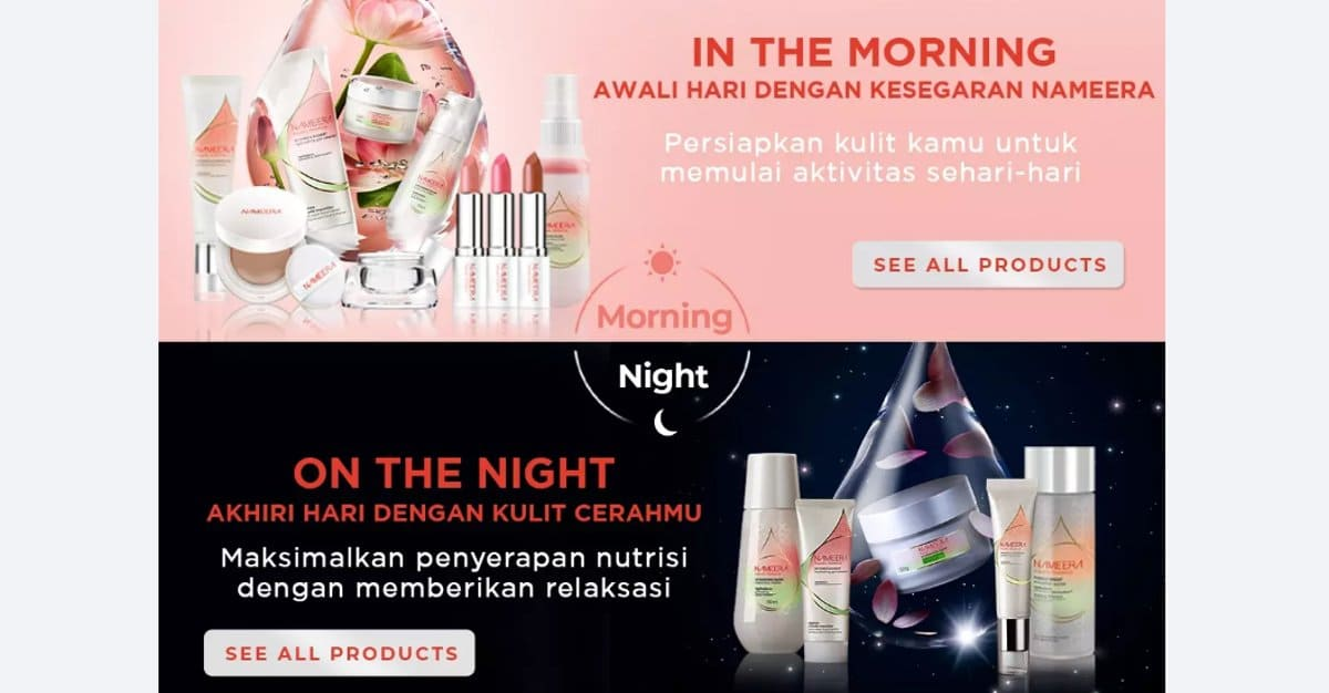 promo nameera aquatic botanical lazada