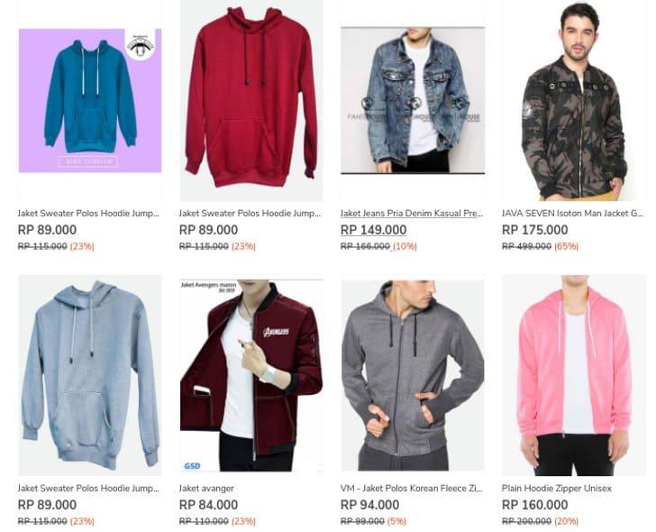 jaket dan sweater hoodie zilingo 80 ribuan