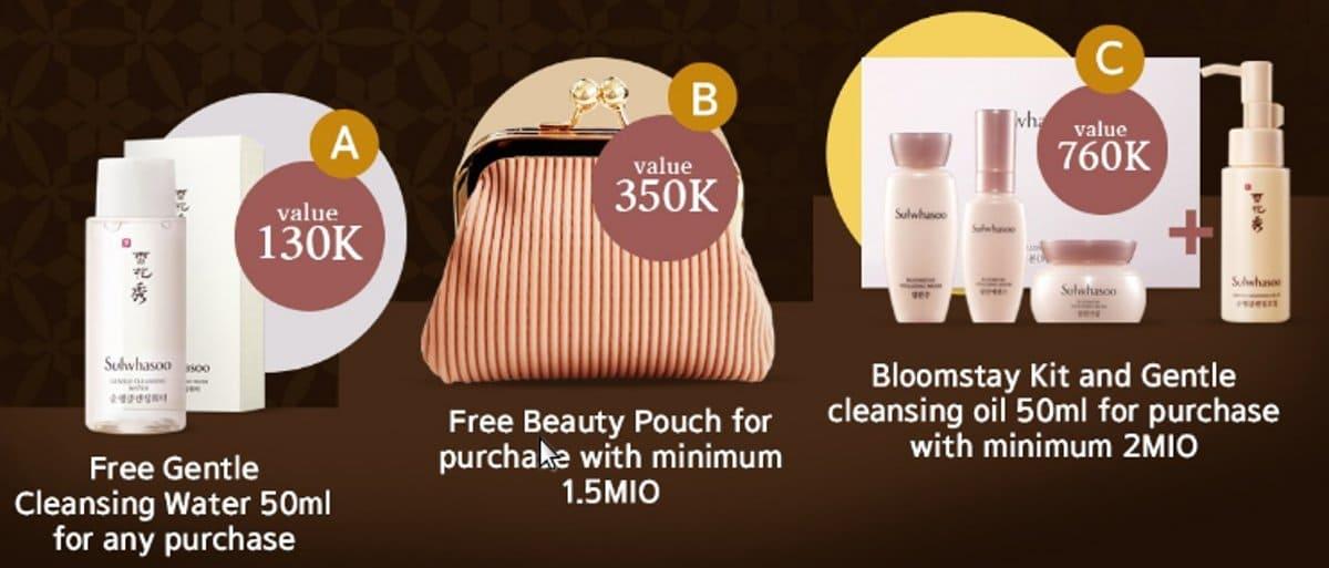 promo sulwhasoo lazada gratis tas kecantikan dan pembersih alami