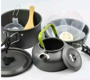 paket alat masak camping teko perebus air
