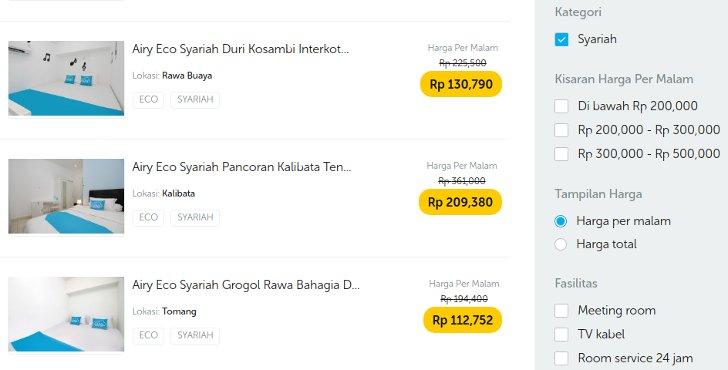 harga airy rooms syariah