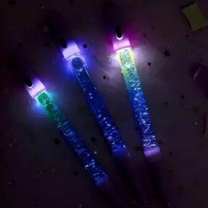 ballpoint glitter cahaya kristal