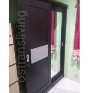 lemari sliding minimalis 2 pintu cermin