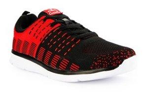 sepatu lari carvil Rectoverso Black and Red