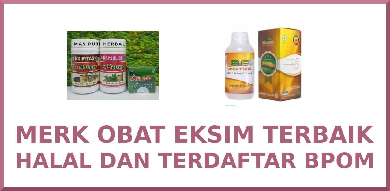 merk obat eksim terbaik halal terdaftar bpom