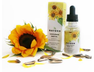 natosh minyak biji bunga matahari untuk jerawat