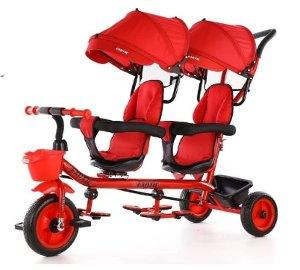 sepeda anak 2 kursi merk exotic