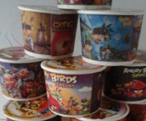 paper ice cream karakter kartun