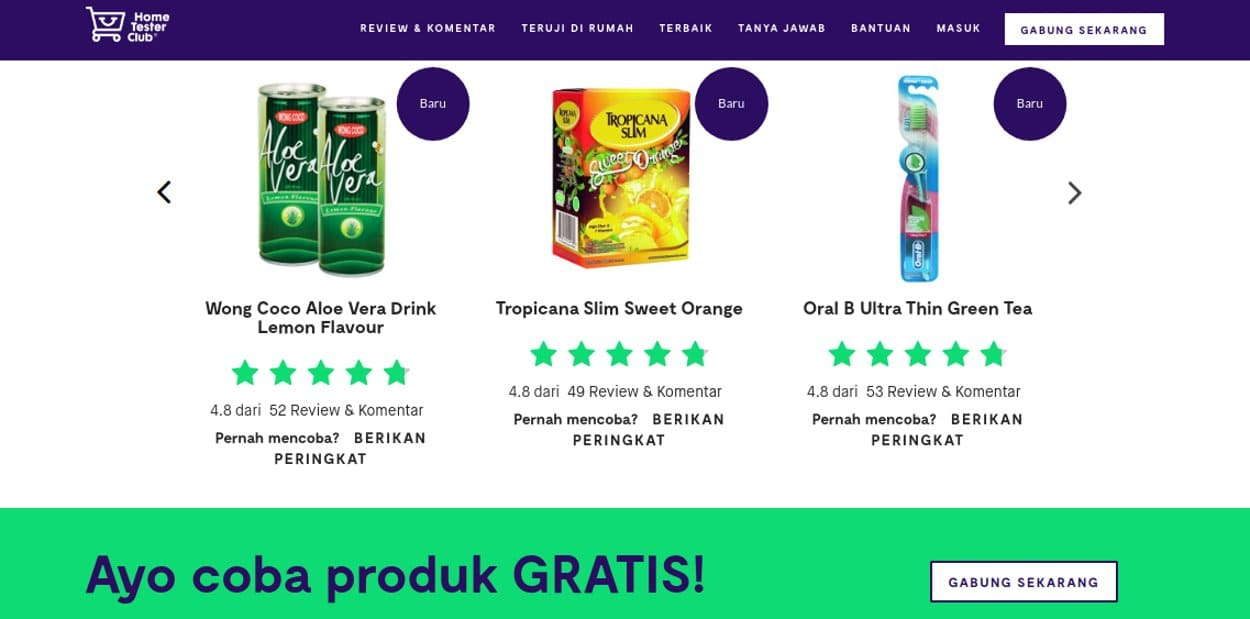 sampel produk gratis home tester club