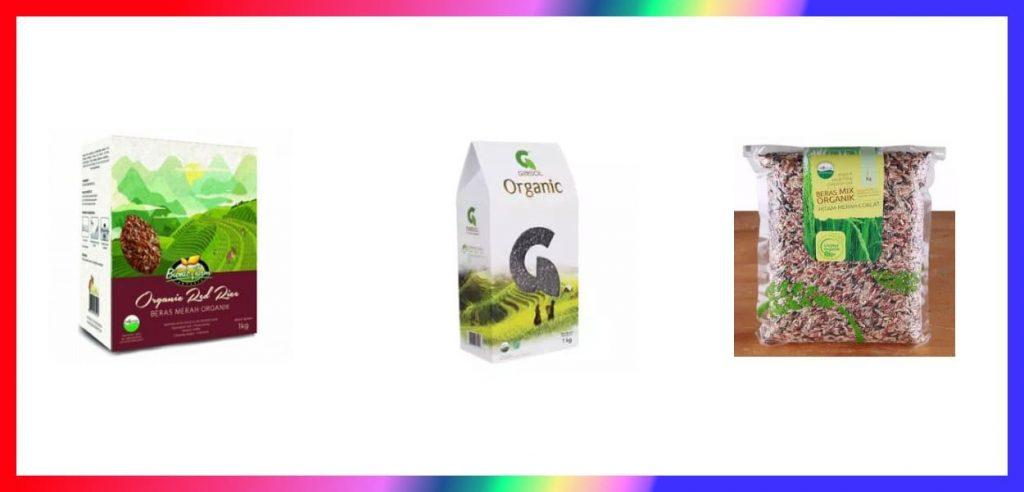 beras organik merah dan hitam