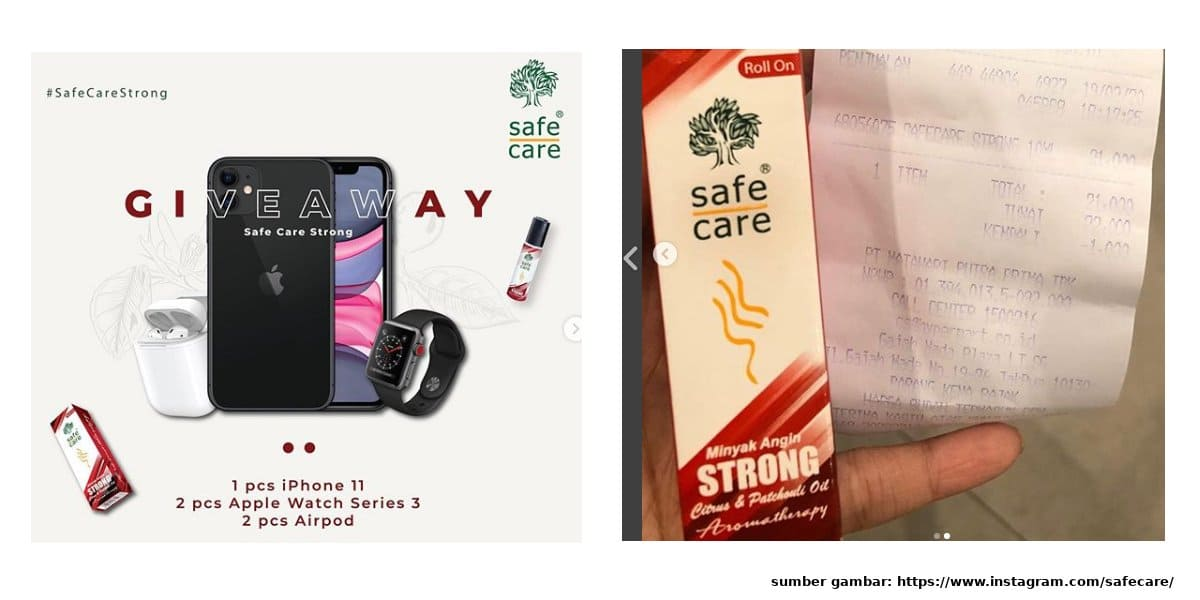 promo safe care strong berhadiah iphone 11