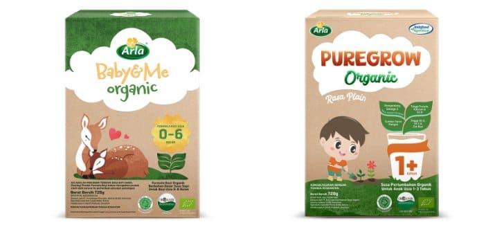 susu arla baby&me dan puregrow organic terbaik