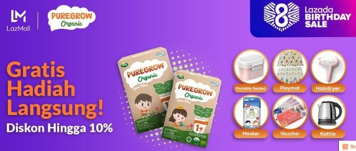 promo puregrow lazada terbaru hadiah gratis langsung dan diskon harga