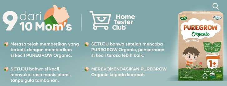 review susu puregrow member home tester club
