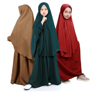 Bajuyuli Gamis Anak Perempuan Syar'i Polos