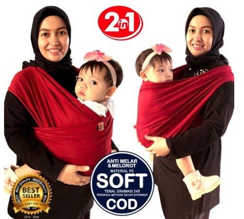 Gendongan Bayi Kaos 2in1 Instan terbaru