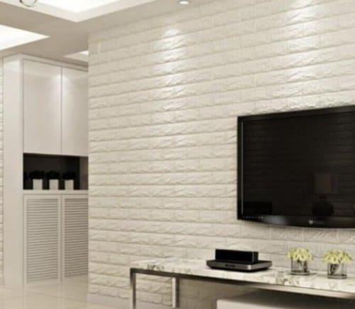 Wallpaper Dinding 3D Motif Bata Emboss terbaru