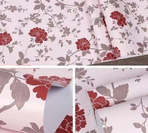 Wallpaper Dinding Kamar Tidur Motif Bunga