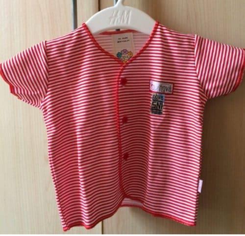 baju bayi nova motif salur standar sni
