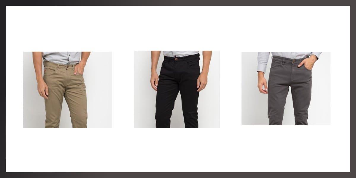 celana carvil terbaik jeans dan chino