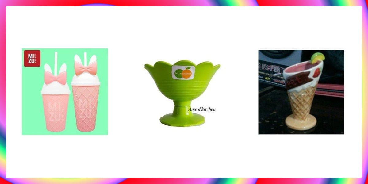 7 Gelas Es Krim Terbaik Bahan Kaca, Kertas dan Plastik