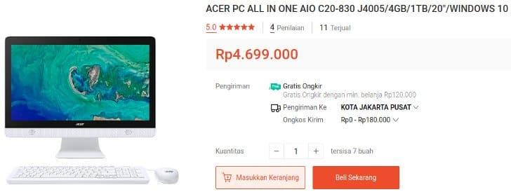 PC All in One Baru Murah Meriah Acer C20-830