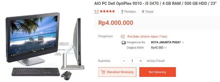 Aio PC Dell OptiPlex 9010